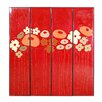 Phillips Collection 4 Piece Flower Panels Wall Décor Set
