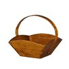 <strong>Fruit Tray with Wooden Handle</strong> by Antique Revival