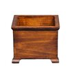 Antique Revival French Square Planter with Wooden Legs