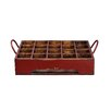<strong>Distressed Rectangular Milk Crate with Iron Handles</strong> by Antique Revival
