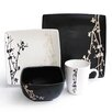 <strong>American Atelier</strong> Twilight Blossom 16 Piece Dinnerware Set