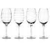 <strong>Fifth Avenue Crystal</strong> 4 Piece Medallion Stemware Set