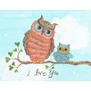 "<strong>The Little Acorn</strong> Baby Owls ""I Love You"" Canvas Art"
