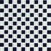 "Interceramic Shimmer Blends 1"" x 1"" Matte Mosaic in Checkerboard"