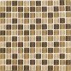 """Interceramic Shimmer Blends 1"""" x 1"""" Ceramic Matte Mosaic in Desert"""