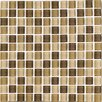 "Interceramic Shimmer Blends 1"" x 1"" Glossy Mosaic in Desert"