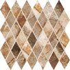 "Marazzi Vesale Stone 3-1/2"" x 2"" Decorative Diamond Mosaic in Rust"