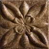 """Marazzi Romancing the Stone 2"""" x 2"""" Compressed Stone Floral Insert in Noce"""