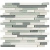 <strong>Marazzi</strong> Crystal Stone II Random Sized Glass Strip Mosaic in Pearl