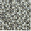Marazzi Crystal Stone II Glass Frosted Mosaic in Pewter
