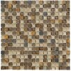 Marazzi Crystal Stone II Glass Frosted Mosaic in Terracotta
