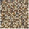 Marazzi Crystal Stone II Glass Square Mosaic in Terracotta
