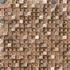 Marazzi Crystal Stone Glass/Stone Mosaic in Walnut