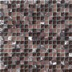 "Crystal Stone 12"" x 12"" Glass/Stone Mosaic in Purple"