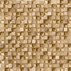 "Crystal Stone 12"" x 12"" Glass/Stone Mosaic in Gold"