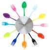 Present Time Silverware Utensils Wall Clock