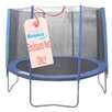 Upper Bounce 10' Round Trampoline Net Using 8 Straight Poles