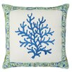 Waverly Marine Life Embroidered Decorative Pillow