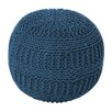 Rizzy Home Dahl Color Cable Knit Ottoman