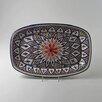 "Le Souk Ceramique Tabarka Design 13"" Rectangular Platter"