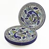 Le Souk Ceramique Aqua Fish Design Side Plates (Set of 4)