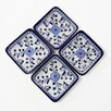 Le Souk Ceramique Azoura Design Serving Dish (Set of 4)