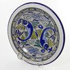 "Le Souk Ceramique Aqua Fish Design 12"" Small Serving Bowl"