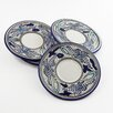 "Le Souk Ceramique Aqua Fish Design 7"" Saucers (Set of 4)"