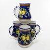 <strong>Citronique Design 16 oz. Large Mug (Set of 4)</strong> by Le Souk Ceramique
