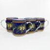 Le Souk Ceramique Citronique Design 12 oz. Coffee Mug (Set of 4)