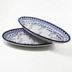 """<strong>Azoura Design 16"""" Oval Platter (Set of 2)</strong> by Le Souk Ceramique"""