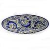 "Le Souk Ceramique Aqua Fish Design 21"" Oval Platter"