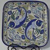 "Aqua Fish Design 11.5"" Square Platter"