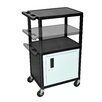 Luxor LP Series AV Cart with Cabinet/Electric