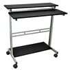 "<strong>39"" Standing Desk with Casters</strong> by Luxor"