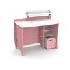 Legare Furniture Princess Computer Desk with Accessory Shelves and File Cart