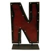 Groovystuff Moonshine Metal Letters N on a Stand Letter Block