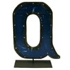 Groovystuff Moonshine Metal Letters Q on a Stand Letter Block