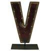 Groovystuff Moonshine Metal Letters V on a Stand Letter Block