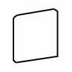"""<strong>Costa Rei 3"""" x 3"""" Bullnose Corner Tile Trim in Terra Marrone</strong> by American Olean"""