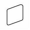 """American Olean Costa Rei 2"""" x 2"""" Surface Bullnose Outcorner Tile Trim in Sabbia Dorato"""