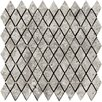 """Emser Tile Natural Stone Rhomboid 2"""" x 1-1/4"""" Travertine Unpolished Mosaic in Silver"""