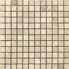 "Emser Tile Natural Stone Vino 1"" x 1"" Travertine Unpolished Mosaic in Cream"