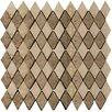 Emser Tile Natural Stone Tumbled Travertine Rhomboid Mosaic in Beige / Mocha