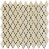 Emser Tile Natural Stone Tumbled Travertine Rhomboid Mosaic in Ancient Beige