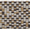 Emser Tile Confetti Oval Round Porcelain Glazed Mosaic in Caldo