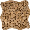 Emser Tile Natural Stone Random Sized Travertine Pebble Mosaic in Mocha
