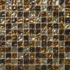 "Emser Tile Vista 1"" x 1"" Glass Mosaic in Caldo Blend"