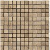 "<strong>Emser Tile</strong> Natural Stone 1"" x 1"" Travertine Mosaic in Mocha"