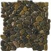 Emser Tile Natural Stone Random Sized Rivera Pebble Mosaic in Forest